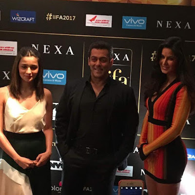 Katrina Kaif, Alia Bhatt and Salman Khan at the IIFA press conference