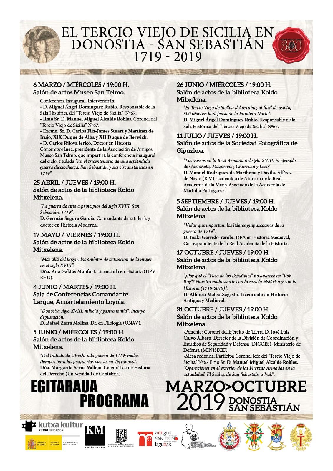 Calendario Laboral Donostia 2019.El Tercio Viejo De Sicilia En Donostia San Sebastian 1719 2019