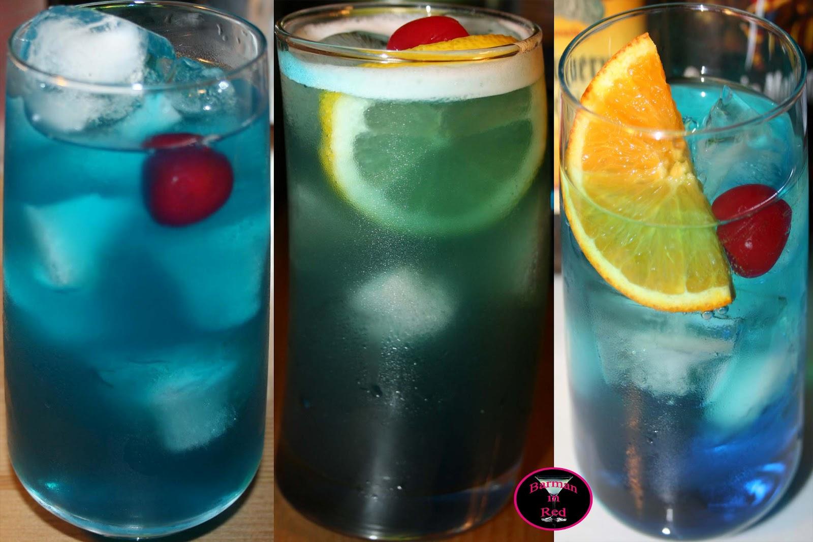 10 cócteles de color azul