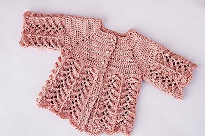 2 - Crochet IMAGEN Chambrita rosa muy fácil y sencilla. MAJOVEL CROCHET