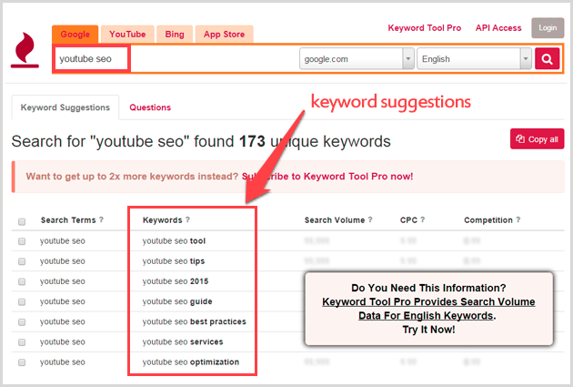 Keywordtool.io is what you should be using when you want to get tons of long tail keywords for your seed keywords