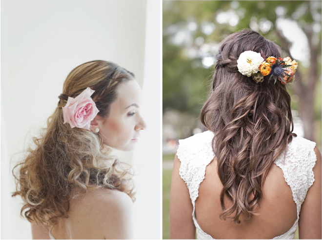 Image Result For Half Up Half Down Wedding Hairstyles For Bridesmaids