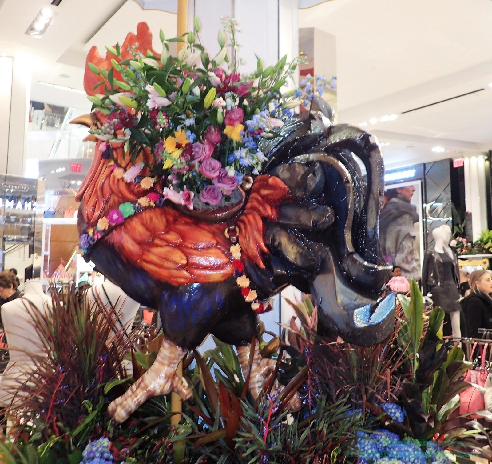 Big Apple Secrets Carnival the flower show in Macy s