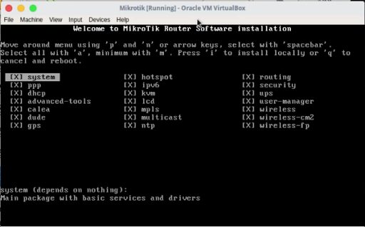 Mikrotik on Virtual Machine, VirtualBox