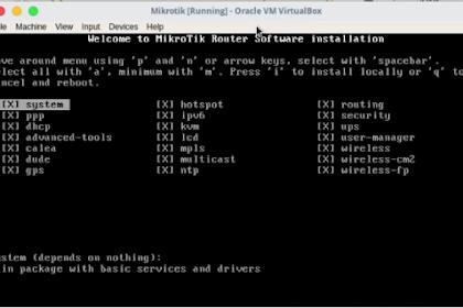 Cara Install MikroTik di Virtual Box