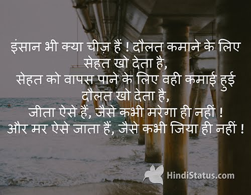 What A Human Hindi Status The Best Place For Hindi Quotes And Status