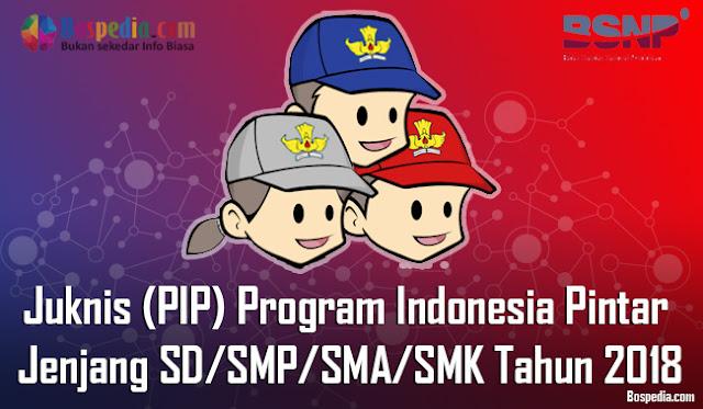 Juknis (PIP) Program Indonesia Pintar Untuk Jenjang SD/SMP/SMA/SMK Tahun 2018
