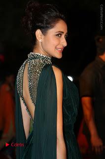 Actress Pragya Jaiswal Stills in Green Long Dress at Gemini TV Puraskaralu 2016 Event  0057.JPG