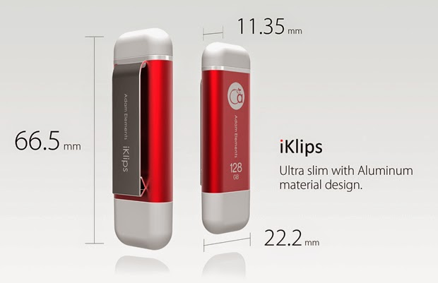 Adam Elements iKlips Lightning Flash Drive for iPhone, iPad, PC & Mac