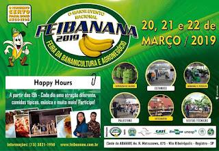 Feibanana tem expectativa de 5 mil pessoas com a participação de especialistas internacionais