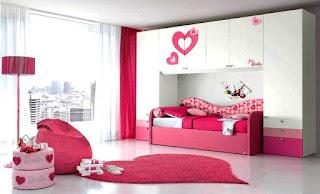Desain Kamar Anak Perempuan Minimalis Cat Warna Pink
