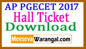 PGECET 2017 Hall Tickets Download