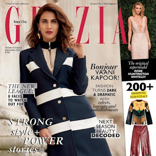 Vaani Kapoor on Cover Page of Grazia India magazine September 2016 issue