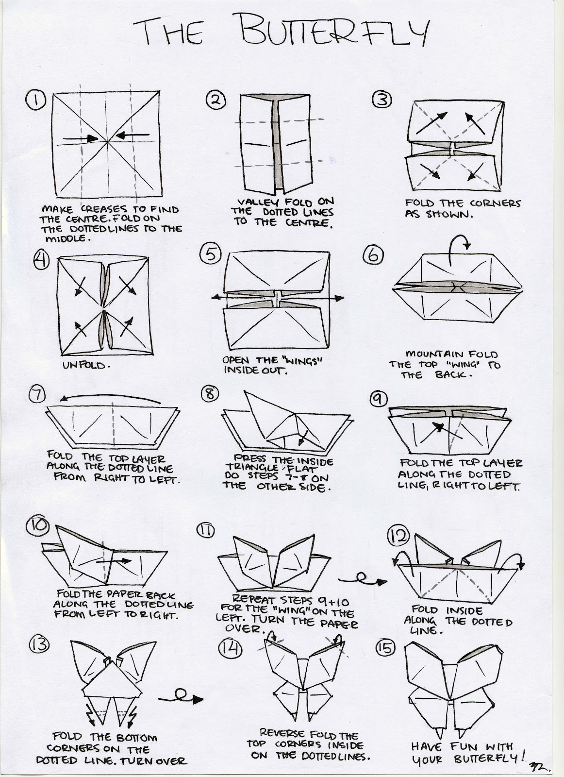 Origami butterfly, make it for a simple - Sweet Souvenir - photo#3