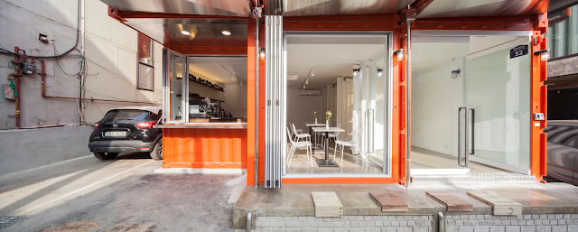 Shipping Container 4 Story House - Office, Cafe and Hotel in Seoul, South Korea 28