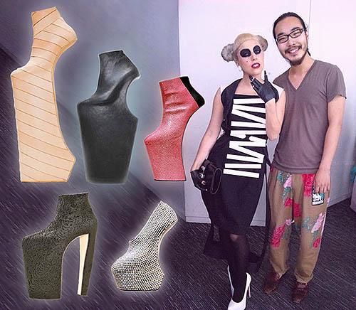 high heels Noritaka untuk Lady Gaga