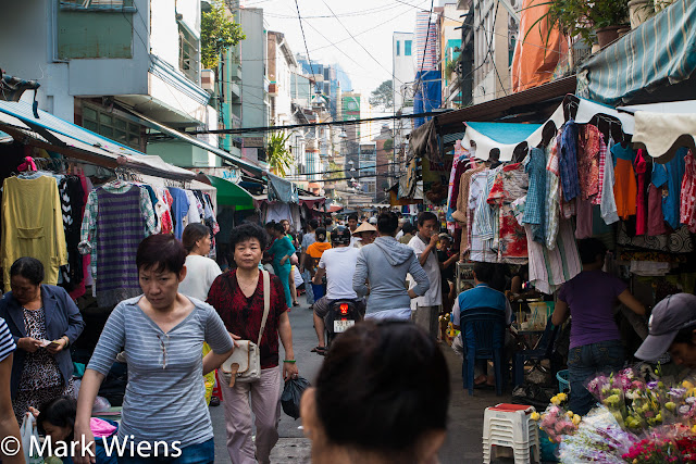 small market in hcm viet nam