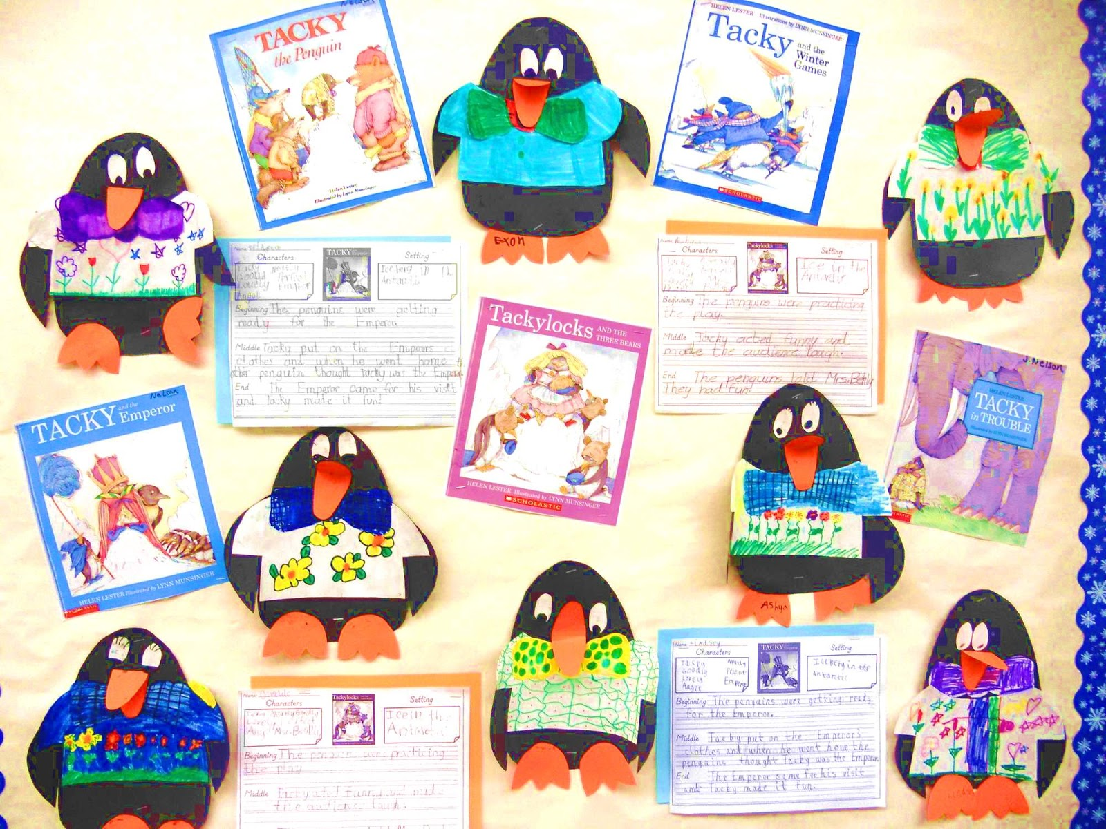 Bulletin board ideas with penguins up the bulletin boards in