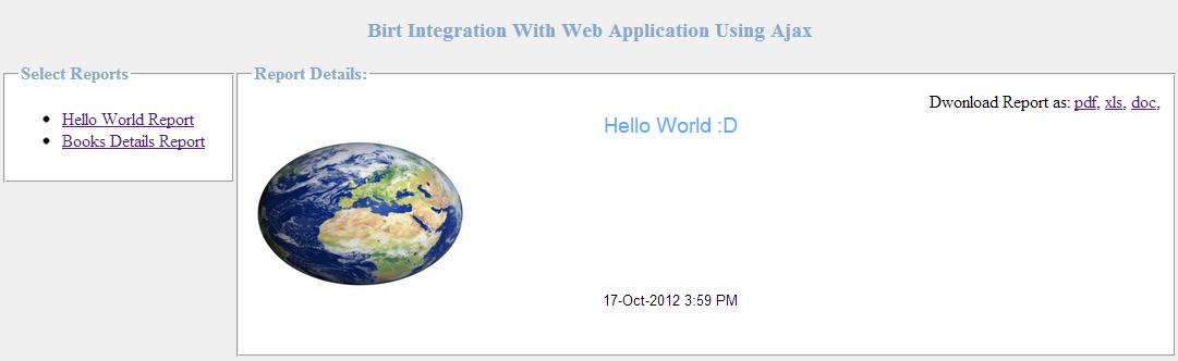 Birt Queries: Birt Integration With Web Application