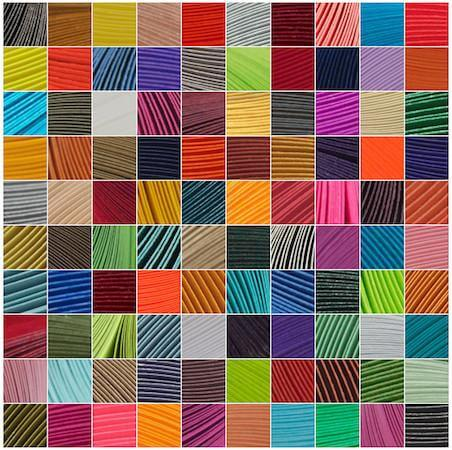montage of colorful squares of quilling paper strips