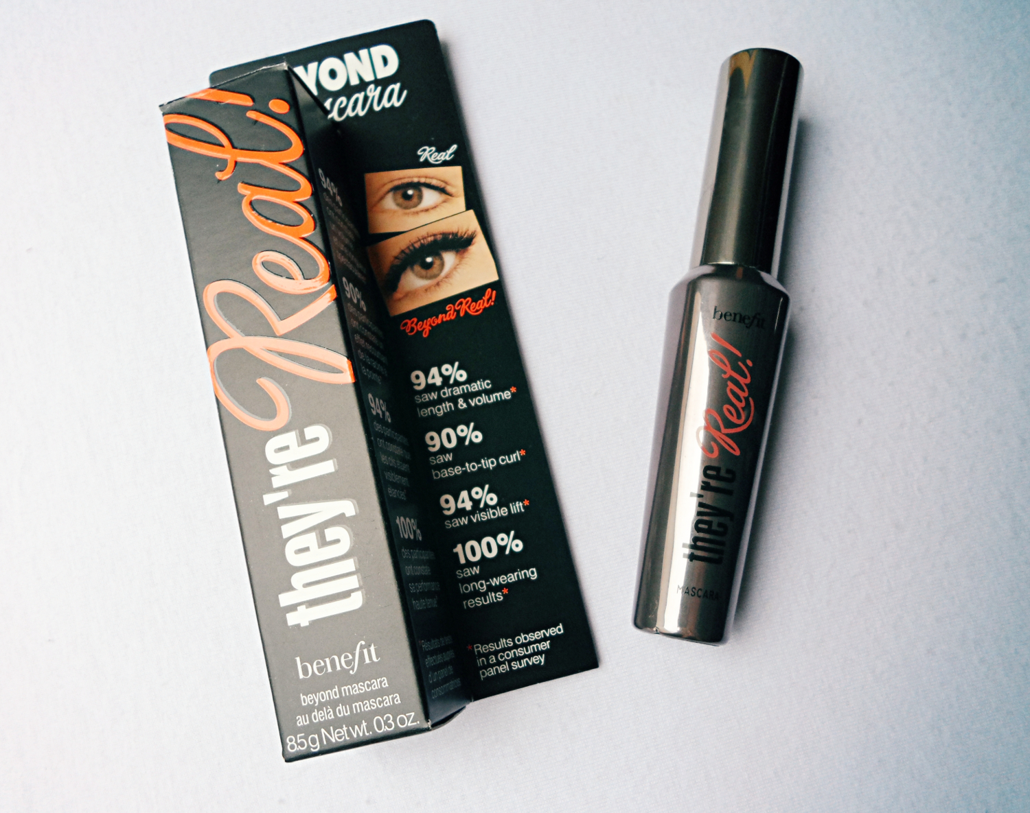 benefit mascara  They`re Real Mascara by Benefit Review swatches liz breygel january girl