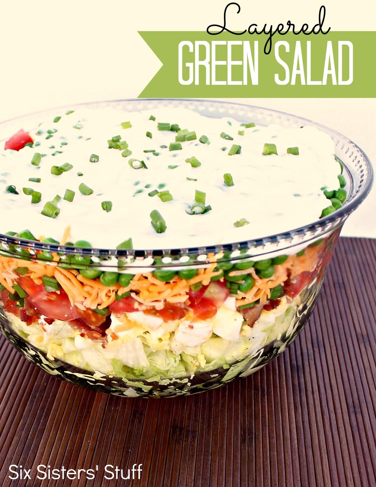 layered green salad recipe six sisters stuff