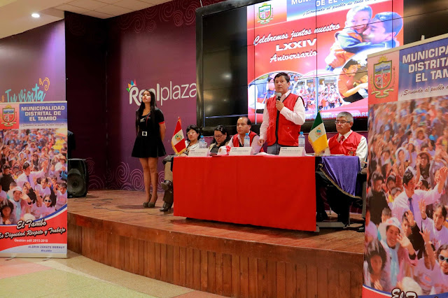 Alcalde Aldrin Zarate informa sobre avances de obras y actividades por los 74 años del distrito de El Tambo