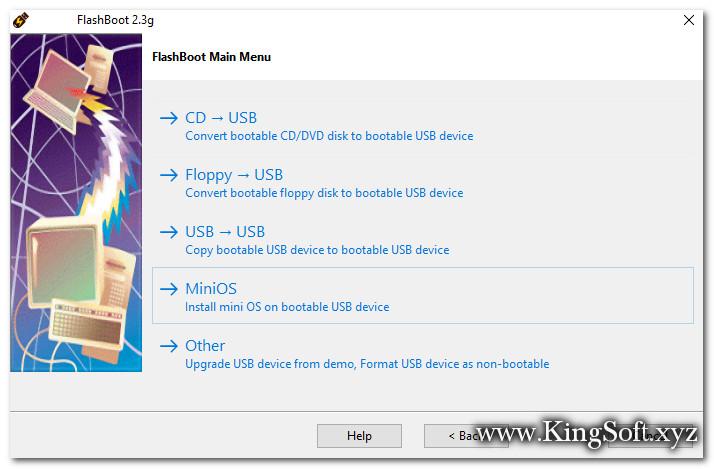 FlashBoot Version 2.3g Full Key , Phần mềm tạo USB Boot để cài đặt và nâng cấp Windows dễ dàng.