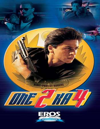 Poster Of One 2 Ka 4 2001 Hindi 500MB HDRip 720p HEVC Watch Online Free Download Worldfree4u