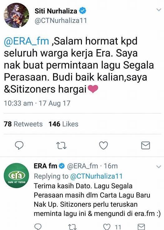 Selepas Buat Kenyataan Sokong Tun Mahathir, Populariti Siti Nurhaliza Jatuh Merudum?