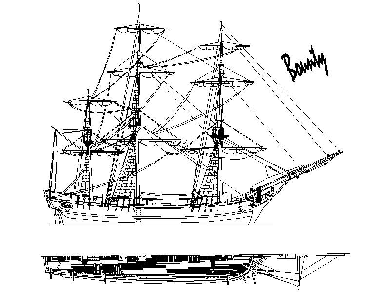 Wooden Model Builder: H.M.A.V Bounty