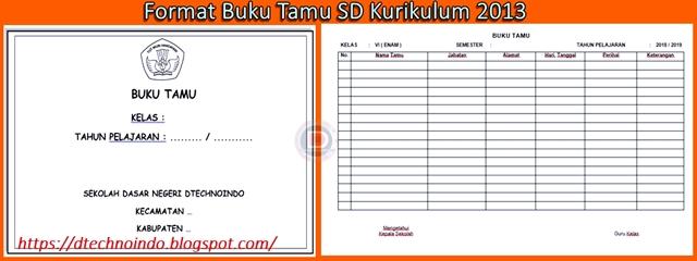 Format Buku Tamu Sd Kurikulum 2013 Dtechnoindo