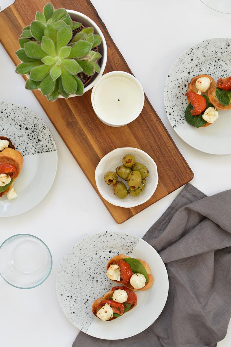 modern ceramic tableware dinner party