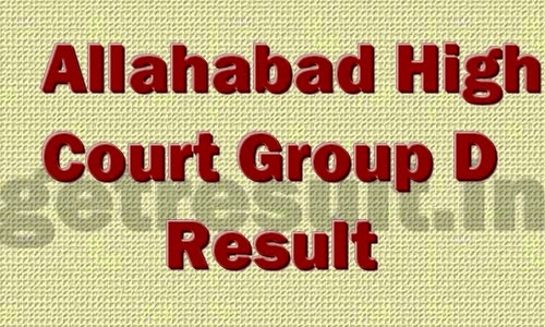 Allahabad High Court Result 2014 for Group D