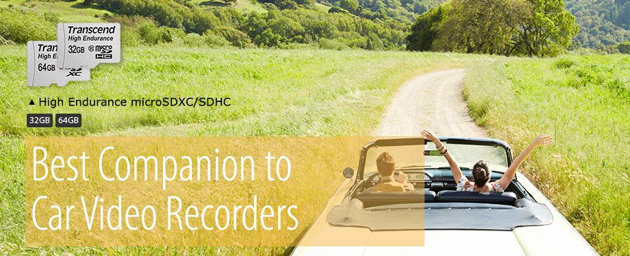 Transcend High Endurance microSDXC/SDHC for Car Video Recorders