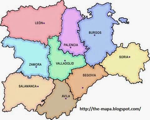 Mapa Castilla Y Leon Tienda Mapas