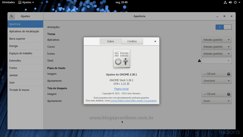 Guia de pós-instalação do Fedora 28 Workstation - Blog Opção