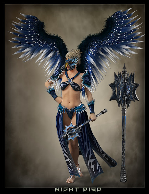 War Bird Outfit and Poses for Genesis 3 Female