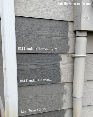 Little house on the corner for Kendall charcoal exterior paint
