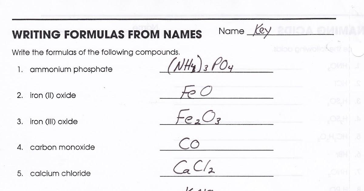 Mr  Brueckner's Chemistry Class - HHS - 2011-12: Keys for Naming and