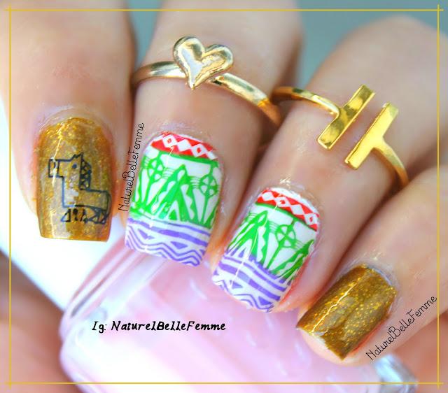 tribal nail stamping