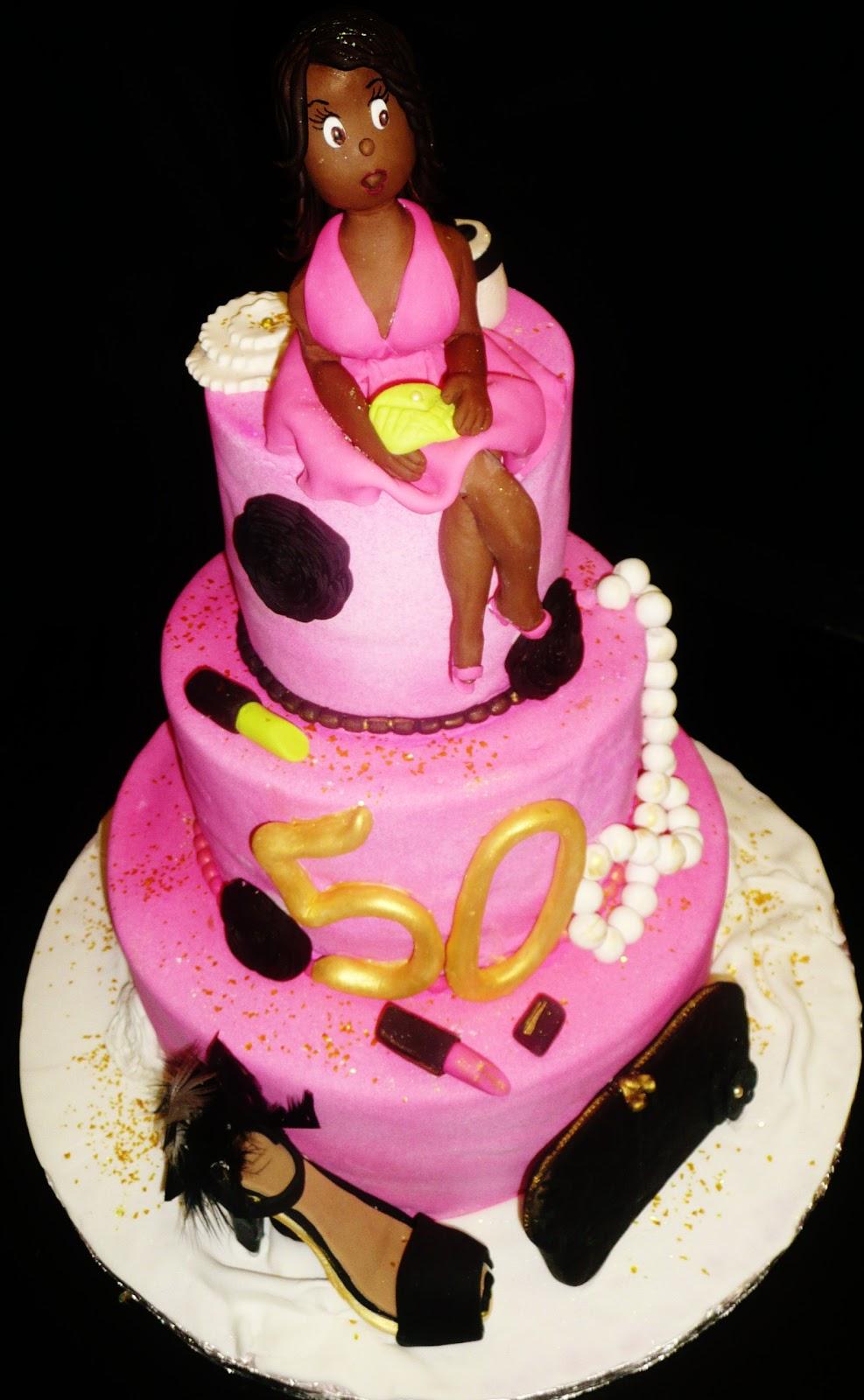 """Baking with Roxana's Cakes: 50th Birthday Cake """"Diva themed"""""""