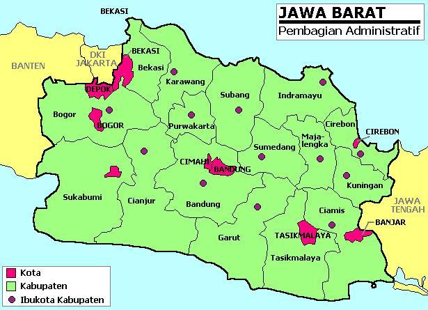 Peta Jawa Barat ...