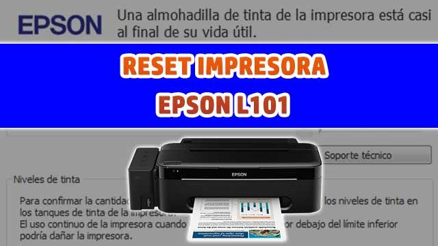 Reset almohadillas de la impresora EPSON L101 | how to reset printer EPSON