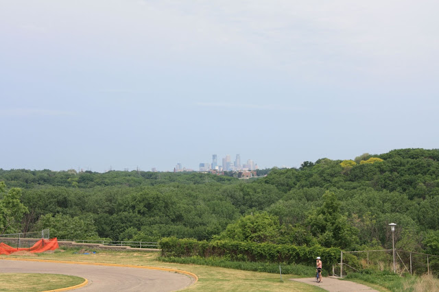 Minneapolis in the distance from Fort Snelling