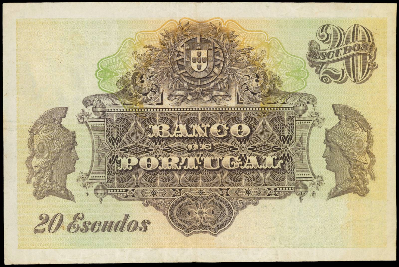 20 Portuguese Escudo note 1920