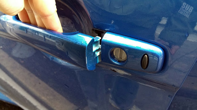 Mitsubishi Lancer EVO MR - door handle