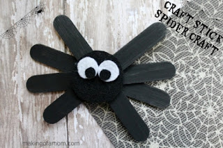 Craft Stick Spiders