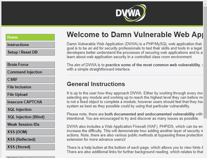 DVWA and OWASP Mutillidae II Lab setup in Windows