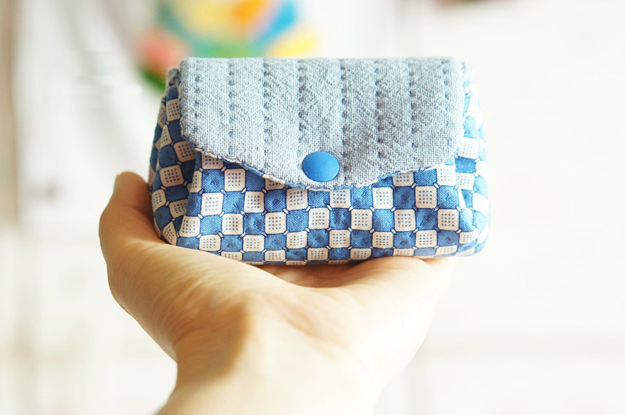 How to sew a purse from a fabric. Pouch  DIY step-by-step tutorial. Как сшить кошелек из ткани.